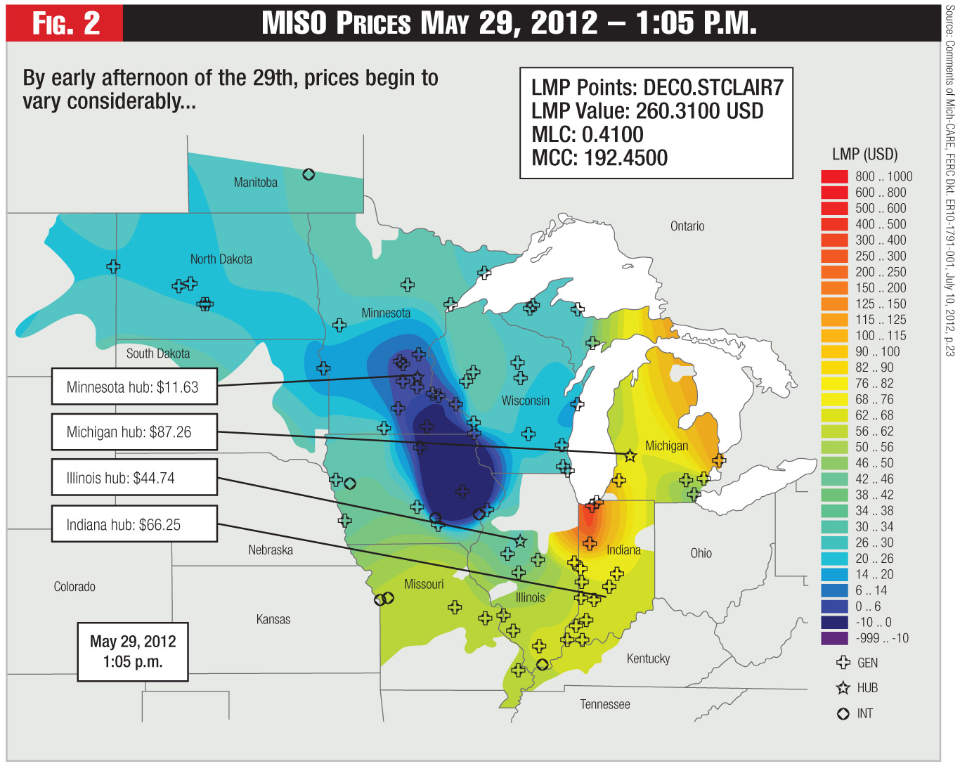 Figure 2 - MISO Prices May 29, 2012 – 1:05 P.M.