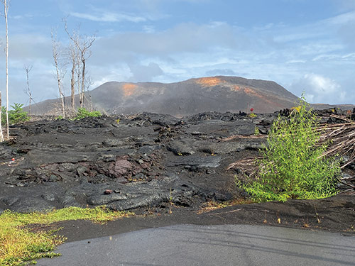 At the Leilani Estates subdivision and nearby Puna Geothermal Venture plant on Hawaii's big island, on May 3, 2018, volcano fissures appeared. Massive lava flow soon followed, devastating the subdivision and then the plant by May 27 and 28. Here's a view of the area and the cooled lava.